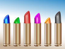 Vivid lipsticks Stock Photo