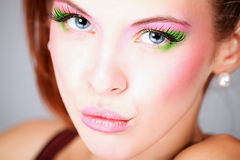 Vivid make-up Stock Image