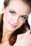 Vivid make-up Royalty Free Stock Photography