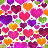 Vivid motley seamless valentine pattern Royalty Free Stock Photos