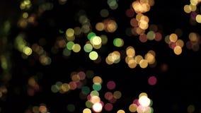 Vivid moving lights stock video footage