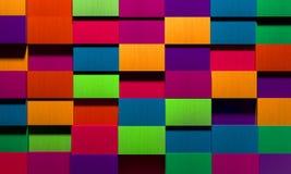Vivid Multicolored Boxes Background. Creative 3D bright multicolored boxes as a background Royalty Free Stock Photo