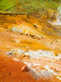 Vivid multicolored land in geothermal area Stock Photography