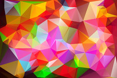 Vivid multicolored low poly background stock photo