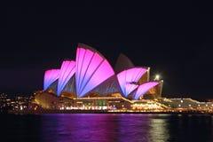 Vivid Opera House Stock Photography