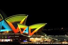Vivid Opera House Stock Image