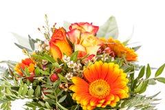 Vivid orange gerbera daisy in a bouquet Stock Image