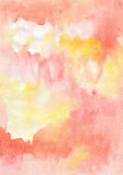 Vivid orange watercolor background Royalty Free Stock Images