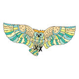 Vivid owl illustration Royalty Free Stock Image