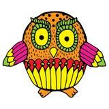 Vivid owl illustration Royalty Free Stock Photography