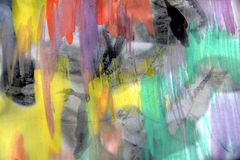 Vivid pastel watercolor background and waxy paper Stock Images