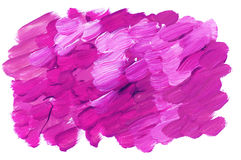 Vivid pink acrylic paint brush stroke for background. Stock Image