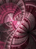Vivid pink fractal stained glass Stock Photos