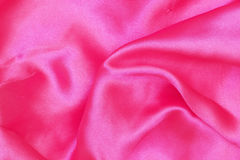 Vivid pink satin cloth Stock Photography