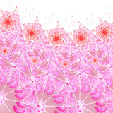 Vivid pink stained glass, digital artwork Stock Photography