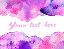 Vivid  pink watercolor background Stock Image