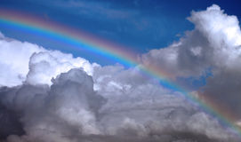 Vivid rainbow stock photo
