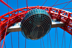Vivid red bridge Stock Images