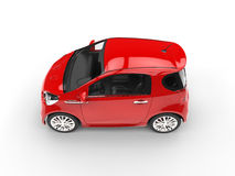 Free Vivid Red Compact Car - Top View Royalty Free Stock Photos - 68689848