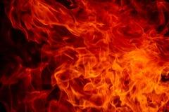 Vivid red flames at night Royalty Free Stock Photography