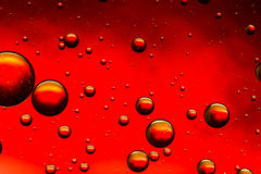 Vivid red and gold oil and water abstract Royalty Free Stock Photography