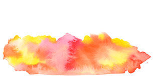 Vivid red orange yellow watercolor background Royalty Free Stock Photos
