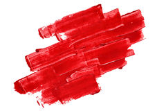Vivid red textured brush strokes Royalty Free Stock Photography