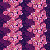 Vivid repeating floral. For easy making seamless pattern use it for filling any contours Stock Photography