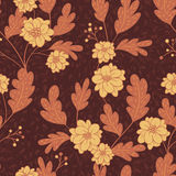 Vivid repeating floral. For easy making seamless pattern use it for filling any contours Royalty Free Stock Photography