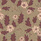 Vivid repeating floral. For easy making seamless pattern use it for filling any contours Stock Photos