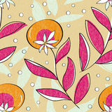 Vivid repeating floral. For easy making seamless pattern use it for filling any contours Royalty Free Stock Images