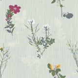 Vivid repeating floral Royalty Free Stock Photos