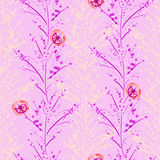 Vivid repeating floral Royalty Free Stock Image