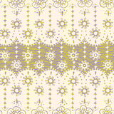 Vivid repeating floral. For easy making seamless pattern use it for filling any contours Stock Images