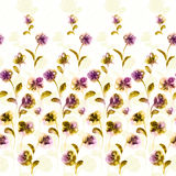 Vivid repeating floral. For easy making seamless pattern use it for filling any contours Royalty Free Stock Image