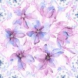 Vivid repeating floral. For easy making seamless pattern use it for filling any contours Royalty Free Stock Photo