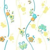 Vivid repeating floral Stock Photo