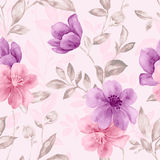 Vivid repeating floral Stock Photography