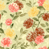 Vivid repeating floral Royalty Free Stock Photos