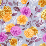 Vivid repeating floral Royalty Free Stock Image