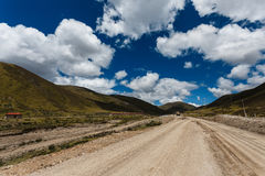 Vivid scenery. In Yading, Daocheng, Sichuan, China Royalty Free Stock Photo