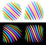 Vivid shapes. Funky vivid abstract shapes, vector graphics Stock Image