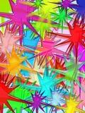 Vivid splash. 3d illustrated pattern background Stock Photo
