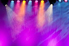 Vivid stage spotlights Stock Photos