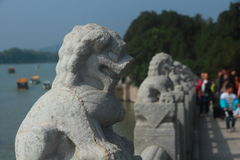 Vivid stone lion Stock Photography