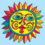 Vivid sunflower hand drawing Stock Photos