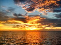 Vivid sunset. Fire in the sky Stock Photos