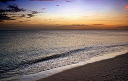 Vivid sunset over beach Stock Photography