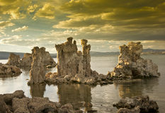 Vivid Sunset Over Mono Lake Stock Photos