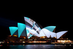 Vivid Sydney. Sydney Opera House during the Vivid Festival stock images